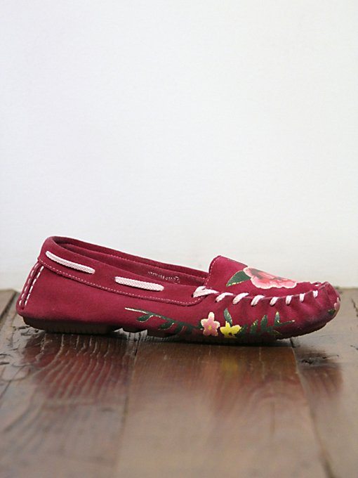Vintage Rose Suede Moccasins in vintage-loves-shoes