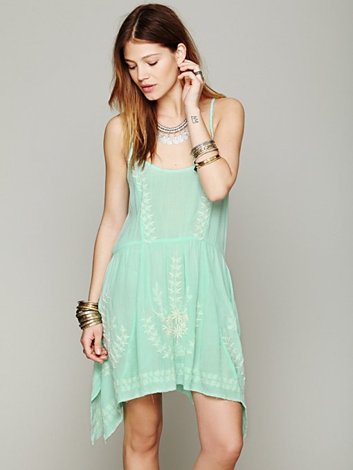 Free People Meadows Of Medallion Slip in slip-dresses