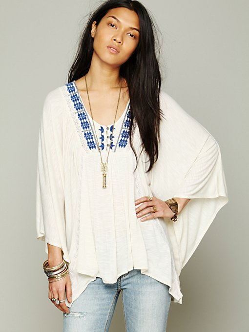 Free People Breathless Boxy Tee in knit-tops