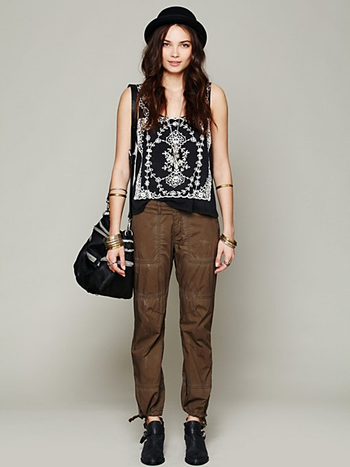 Free People Washed Parachute Pant in Skinny-Pants