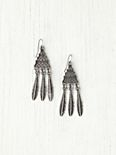 Chevron Feather Drop Earring