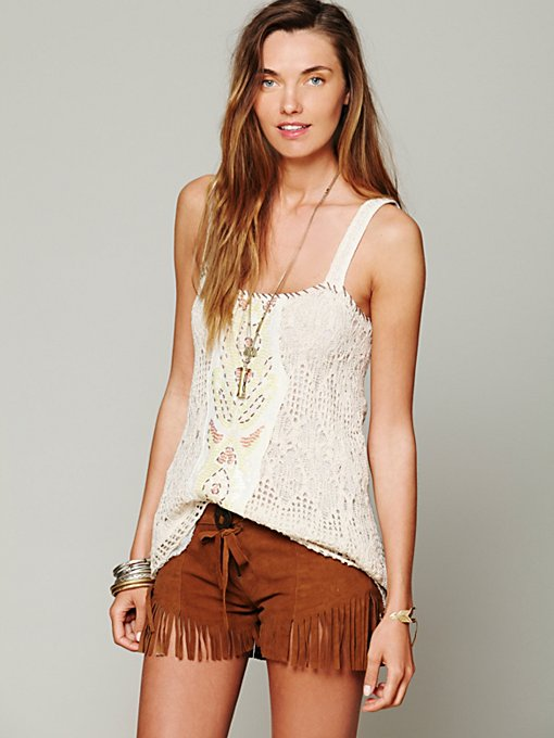 One Teaspoon  Morrison Fringe Short in leather-shorts