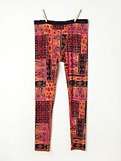 Printed Crop Legging in fp-body