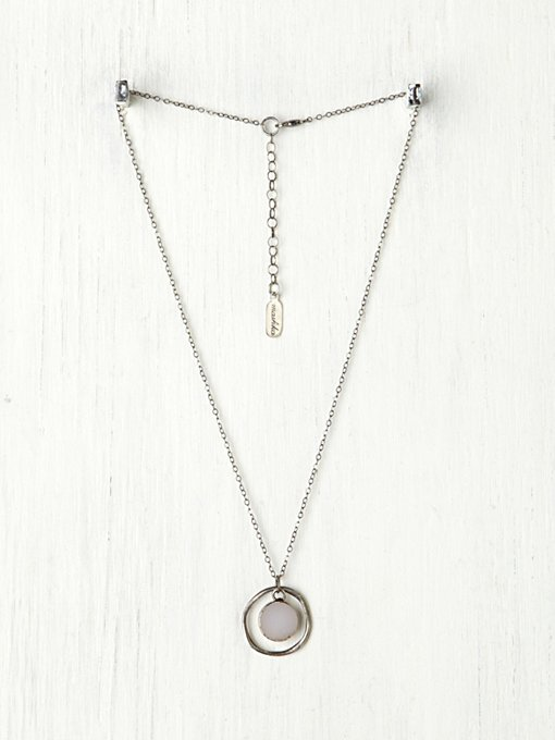 Stone Target Necklace in accessories-jewelry