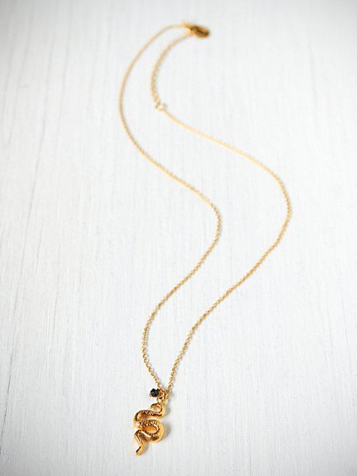 Alex Monroe Black Garnet Snake Necklace in necklaces