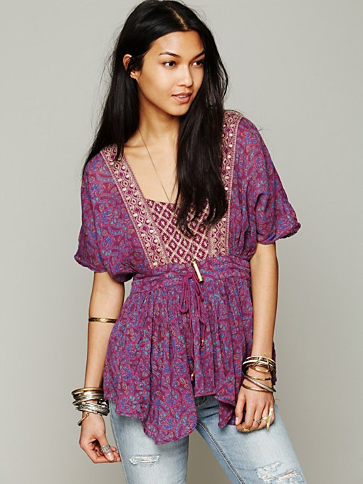 Free People Well Traveled Tunic in designer-brand-clothing