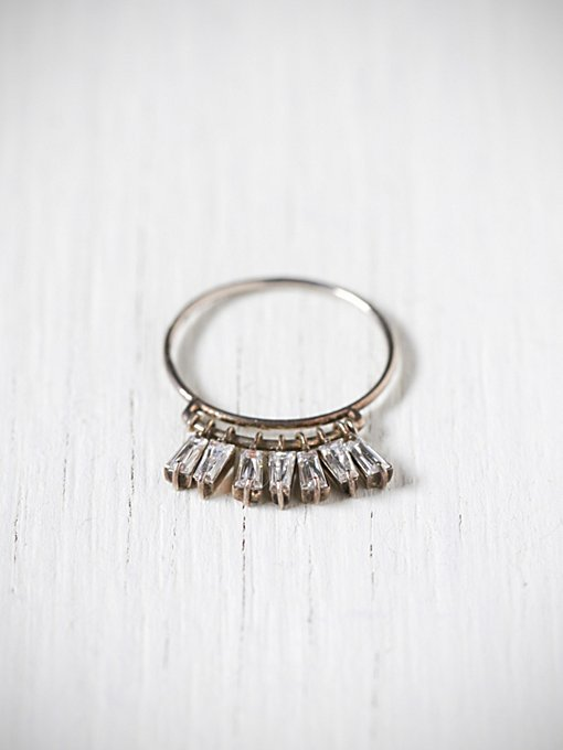 e.m. noir Crystal Drop Ring in boutique-rings-earrings