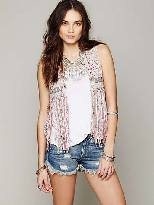 Free People Stitch In Time Vest in cardigan-sweaters