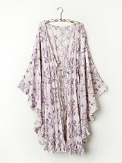 Ruffle Kaftan in Intimates-slips-bed-jackets-robes-nighties