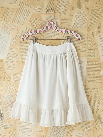 Free People Vintage White Cotton Skirt