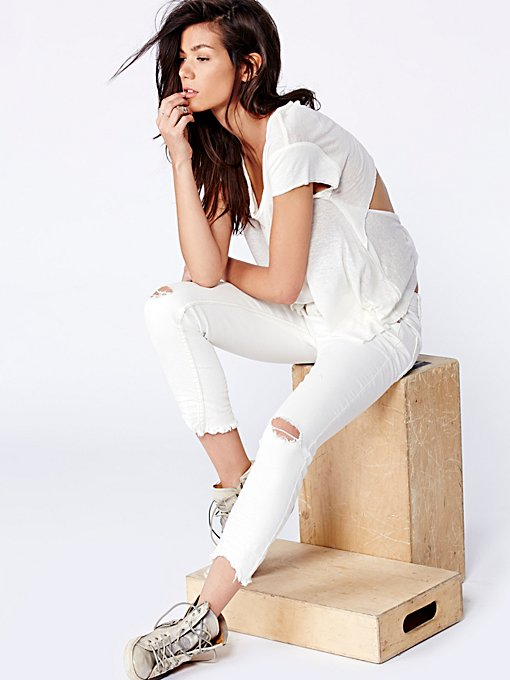 Free People Destroyed Ankle Skinny in Skinny-Pants