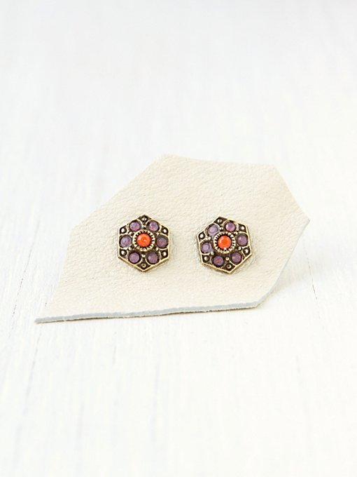 Vintage Stone Studs in boutique-rings-earrings