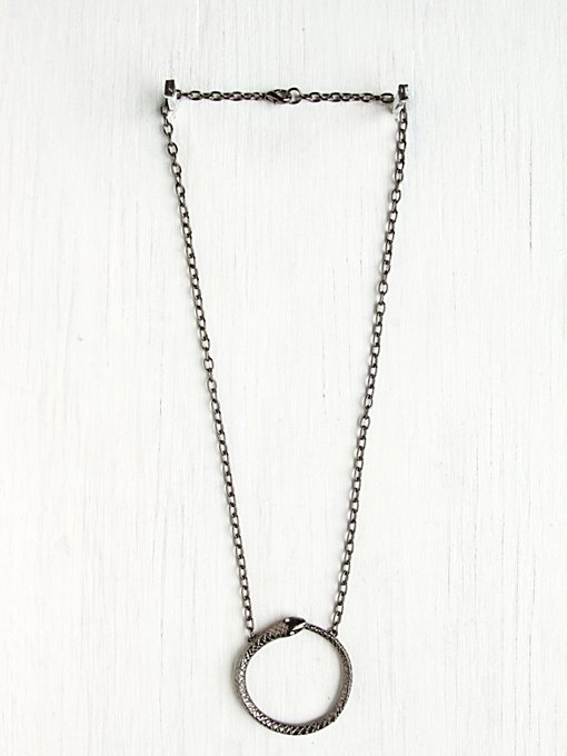 Arms and Armory Eternity Snake Pendant in bib-necklaces