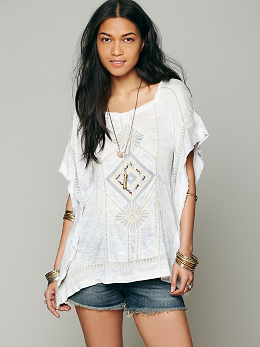 Free People Kalifas Kaftan Top in knit-tops