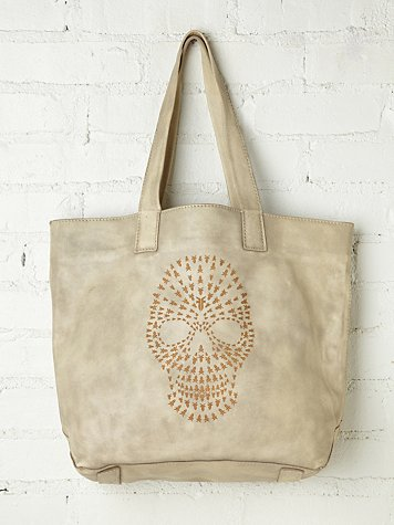 Skull Leather Tote