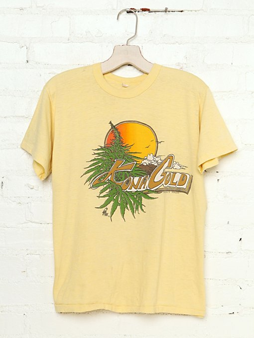 Kona Gold Tee in Vintage-Loves-vintage-tees