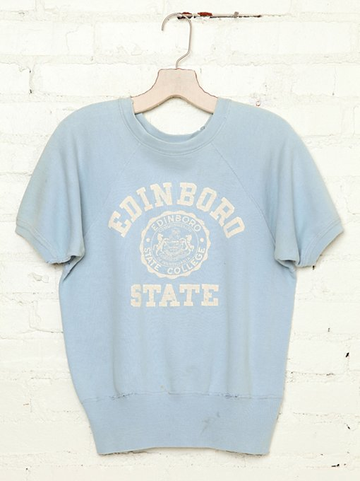 Free People Vintage Edinboro State College Sweatshirt in Vintage-Tops