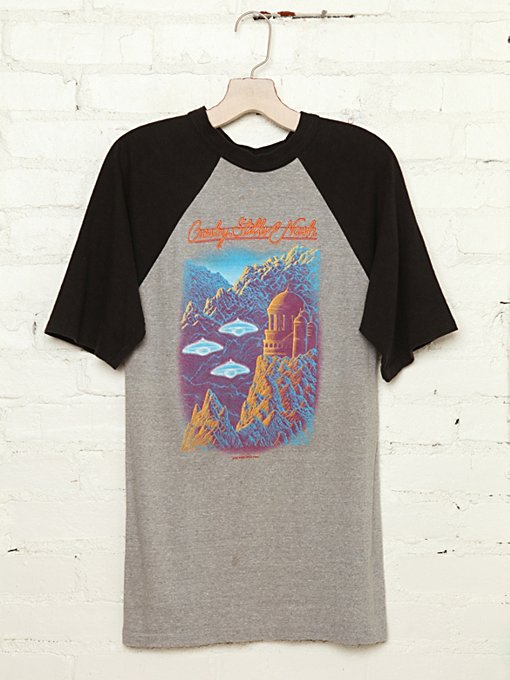 Free People Vintage Crosby Stills & Nash Tour Tee in Vintage-Tops