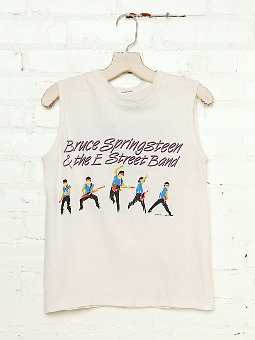 Free People Vintage Bruce Springsteen & The E Street Band Tour Tee in Vintage-Tops