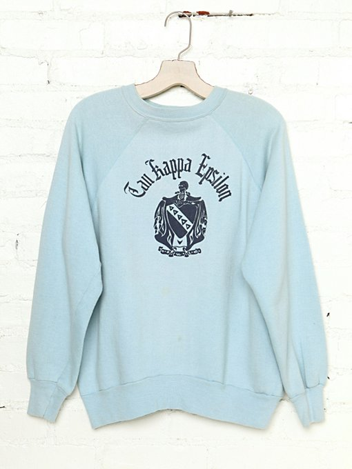 Free People Vintage Tau Kappa Epsilon Sweatshirt in Vintage-Tops