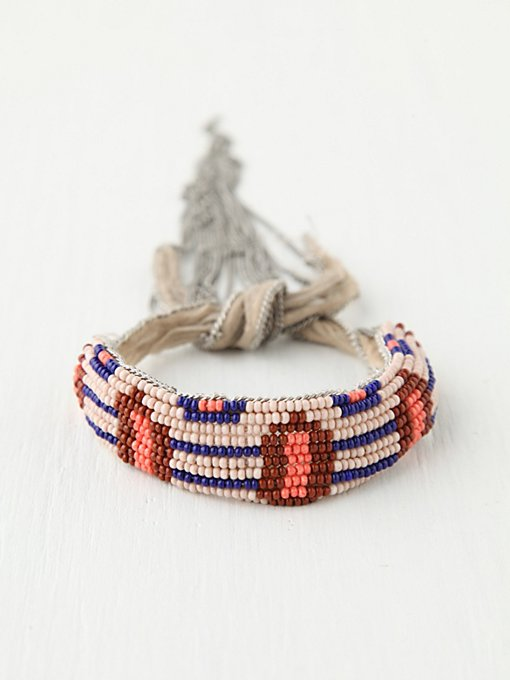 Summer Beaded Fringe Bracelet in accessories-jewelry-bracelets-friendship-wrap