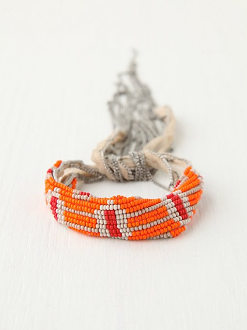 Summer Beaded Fringe Bracelet in accessories-jewelry