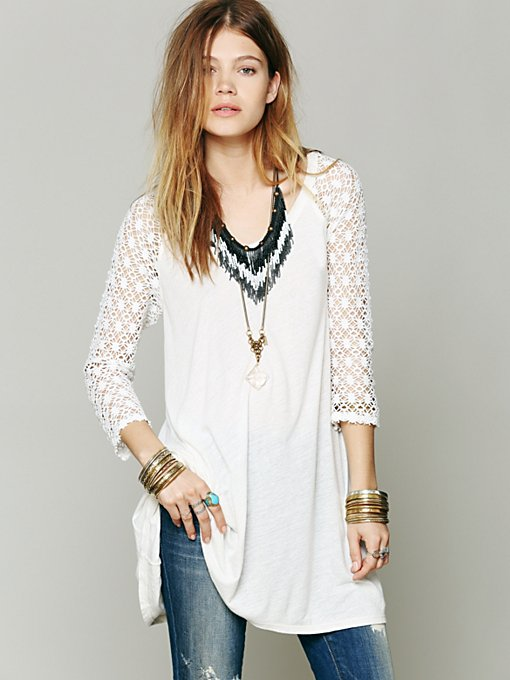 Free People Pitch Hitter Tunic in sleepwear
