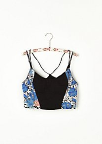Side Printed Crop Bra in intimates-all-intimates