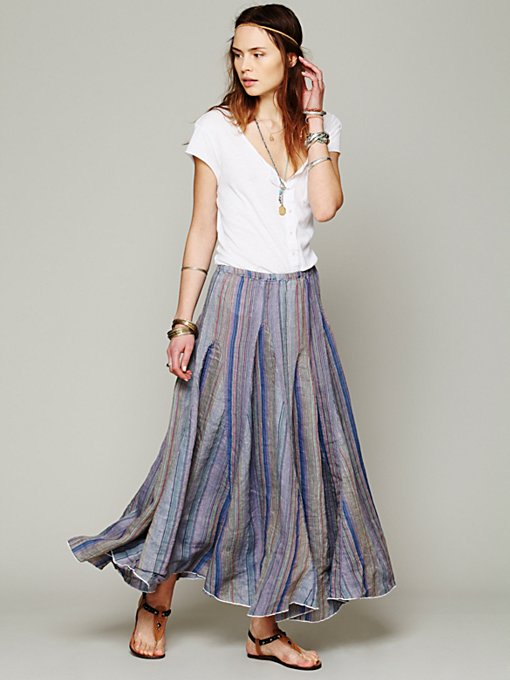 Blue Dream Striped Maxi in clothes-skirts