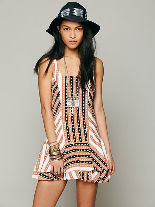 Free People St. Tropez Dropwaist Dress in Beach-Dresses