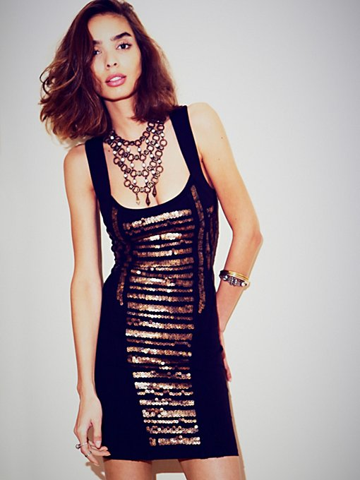 Free People Summer Love Sequin Mini in Mini-Dresses