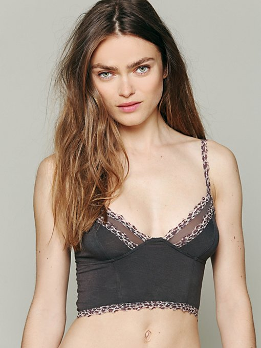 Free People Leopard Trim Crop Bra in bras