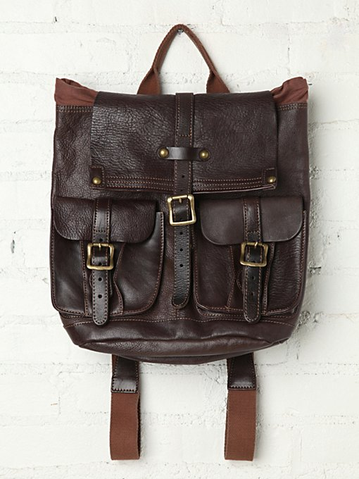 Bed | Stu Shiloh Leather Backpack in backpacks
