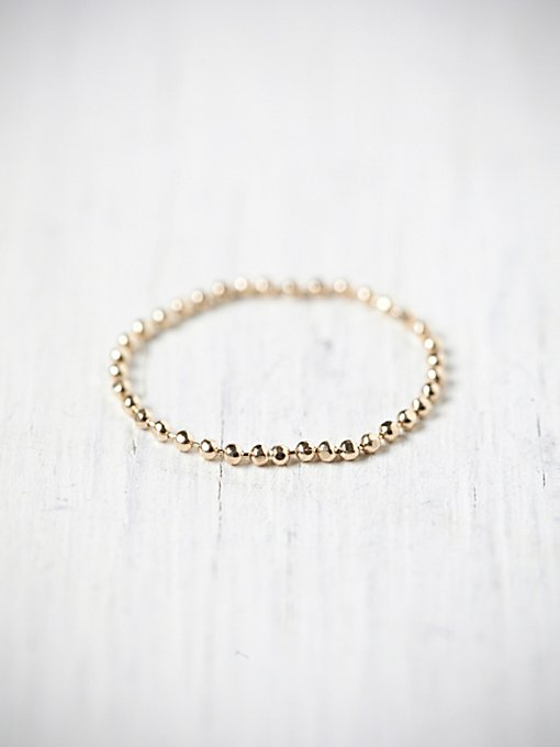 Tiny Gold Chain Ring in accessories-jewelry