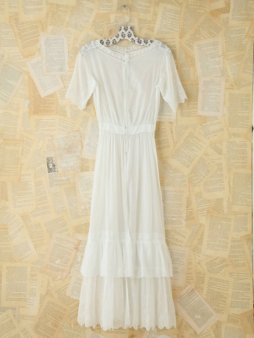 Free People Vintage White Cotton Maxi Dress in Vintage-Dresses