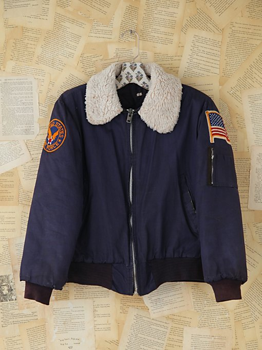 Free People Vintage Air Force Bomber Jacket in vintage-jackets