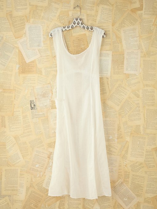Free People Vintage Sheer Button Back Apron in Vintage-Dresses