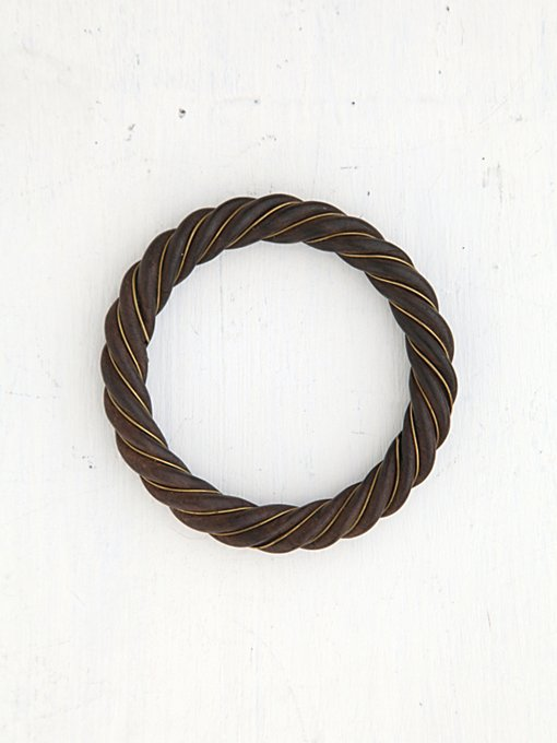Free People Vintage Twisted Wood Bangle  in Vintage-Jewelry