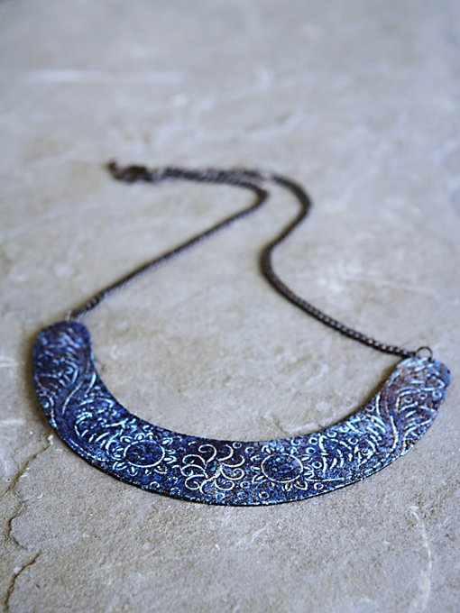 Patina Etched Collar in jewelry