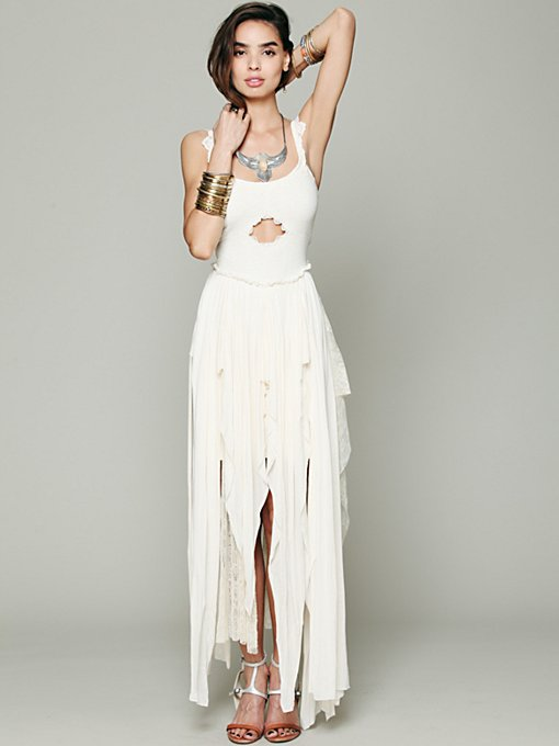 Free People FP X Shipwreck Sally Dress in black-maxi-dresses