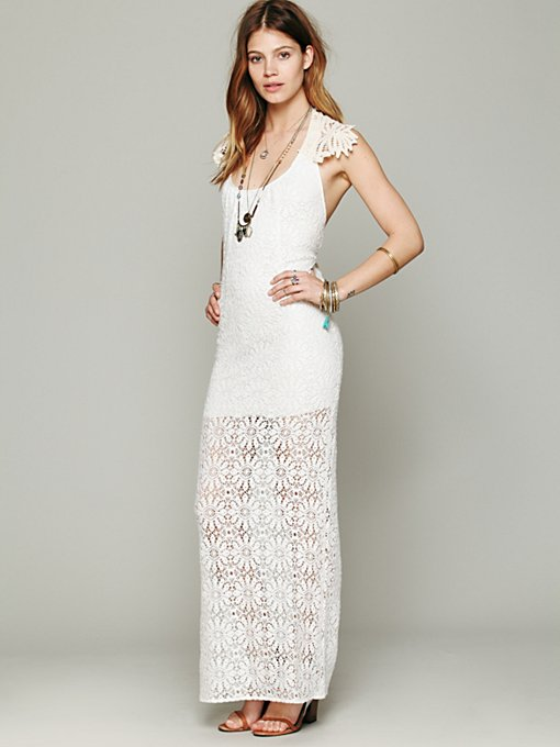 Jen's Pirate Booty Freedom Maxi Dress in white-maxi-dresses