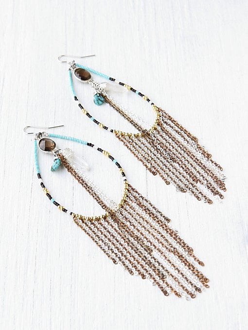 Treasures Tear Drop Earring in boho-jewelry