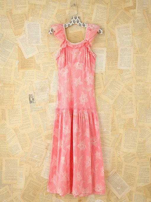 Free People Vintage Printed Maxi Dress in Vintage-Dresses