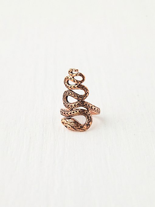 Twisted Snake Ring in boho-jewelry
