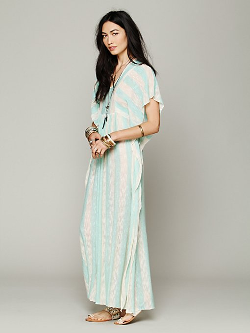 Slub Stripe Kaftan Maxi in clothes-dresses-maxi
