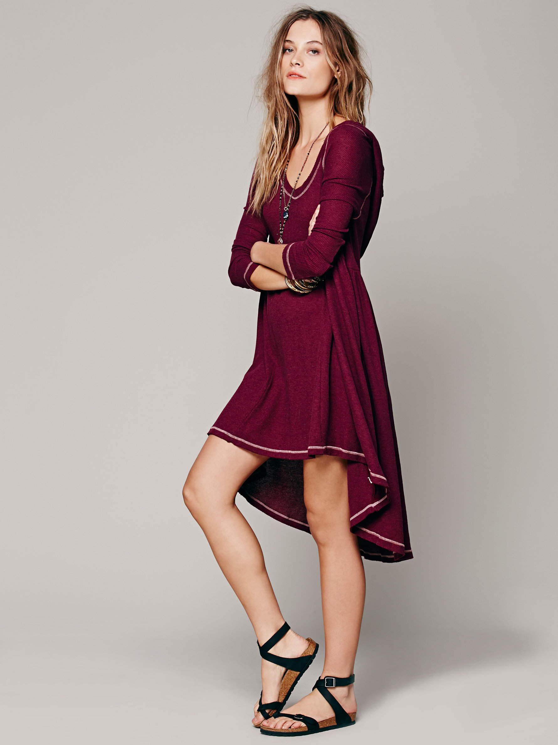 Free People Comfy Hooded Dress | Fancy Friday - The Cost of Comfort - Cute Loungewear