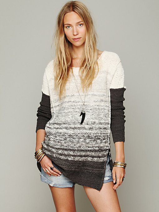 Free People Oversize Pattern Pullover in knit-tops