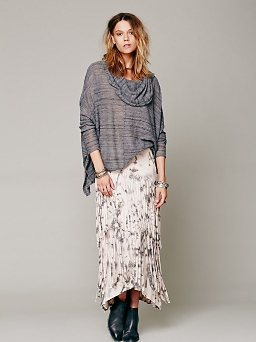 Free People Maheya Fringe Skirt