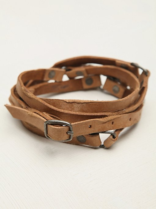 Distressed Double Wrap Belt