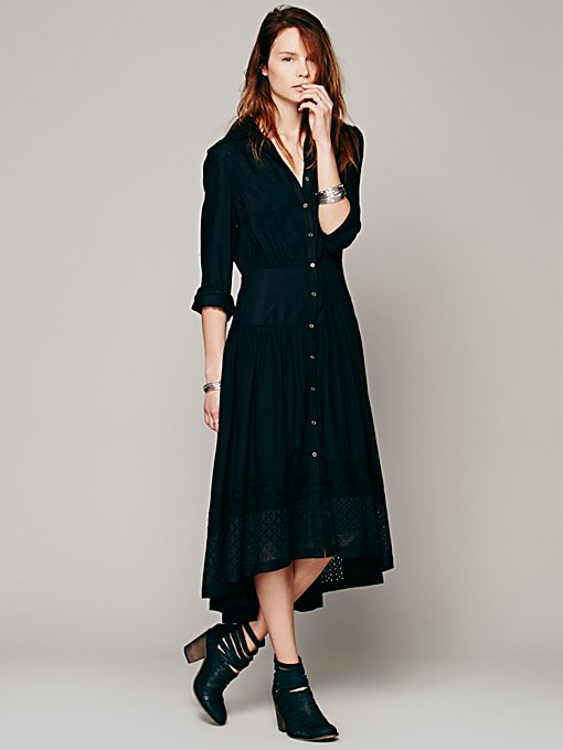 Free People FP New Romantics Dream Shirt Dress in Dresses